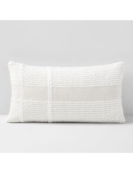 Corded Basketweave Lumbar Pillow Cover by West Elm