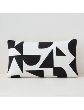 Margo Selby Mix Geo Lumbar Pillow Cover by West Elm
