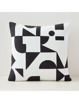 Margo Selby Mix Geo Pillow Cover   Stone White by West Elm