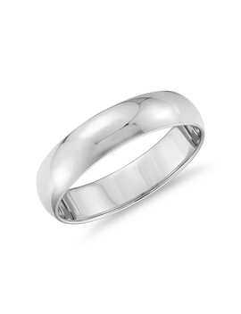 Classic Wedding Ring In Platinum (5mm) by Blue Nile