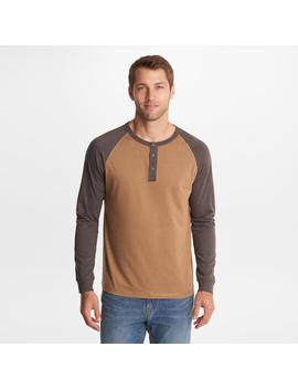 Long Sleeve Henley Colorblock by G.H.Bass & Co.