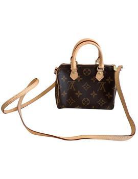 Speedy Nano Monogram Leather Cross Body Bag by Louis Vuitton