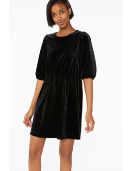 Short Velvet Dress by Monki