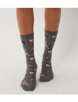 Christmas Icon Socks by Warehouse
