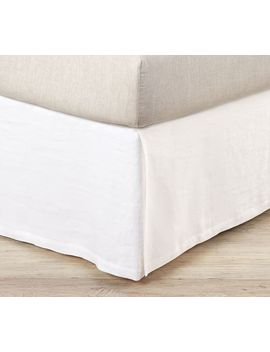Belgian Flax Linen Box Spring Cover by Pottery Barn