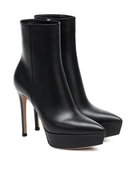 Dasha Leather Platform Ankle Boots by Gianvito Rossi