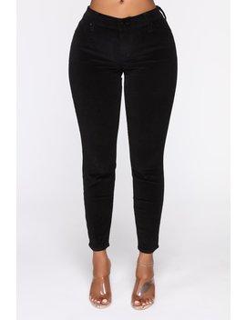 I'm Down Low Rise Corduroy Pants   Black by Fashion Nova