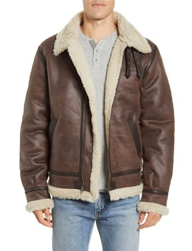 B 3 Faux Shearling Bomber Jacket by Alpha Industries