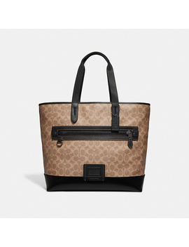 Academy Tote In Signature Canvas by Coach