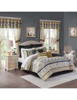 Madison Park Essentials Harriet 24 Piece Complete Bedroom Bedding Set by Madison Park
