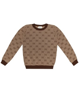 Gg Wool And Cotton Sweater by Gucci Kids