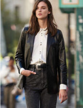 Leather Tailored Jacket by Sandro Eshop