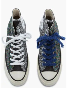 Black Glitter Converse by Jw Anderson