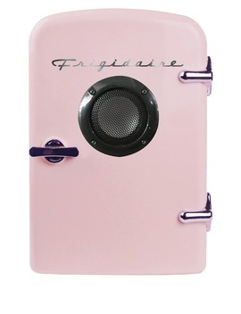 Pink 6 Can Mini Fridge With Bluetooth Speaker by Frigidaire