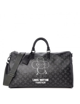 Louis Vuitton Monogram Eclipse Vivienne Keepall Bandouliere 50 by Louis Vuitton