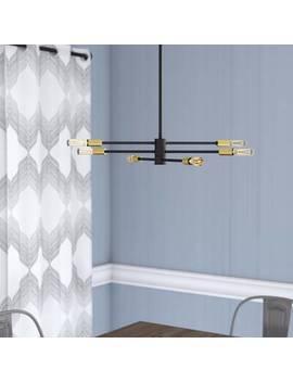 Hidalgo 12   Light Sputnik Modern Linear Chandelier by Trent Austin Design