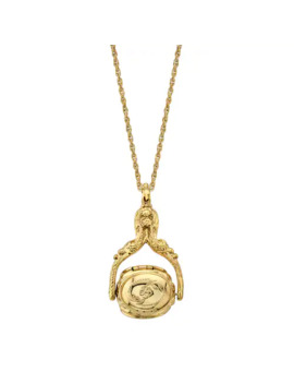 1928 Ornate Locket Pendant Necklace by 1928