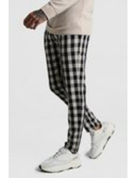 Winter Check Smart Jogger Trouser by Boohoo Man
