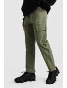 Velcro Cuff Cargo Pocket Trouser by Boohoo Man