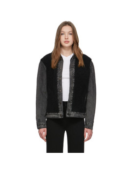 Black Sherpa Trucker Jacket by Levi's