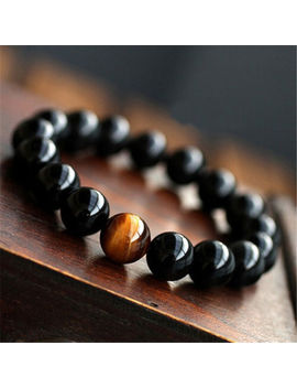 New Fashion Mens Womens Jewelry Agate Tiger Eye Beads Bangle Bracelet 8/10/12 Mm by Unbranded
