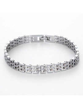 Fashion Men's Stainless Steel Chain Punk Link Bracelet Wristband Bangle Jewelry by Unbranded