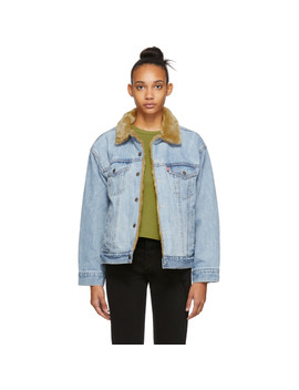 Reversible Indigo Denim Dad Trucker Jacket by Levi's