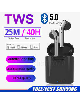 Tws Bluetooth 5.0 Wireless Earphones Earbuds Earpods For Android &Amp; I Phone Twins by Ebay Seller