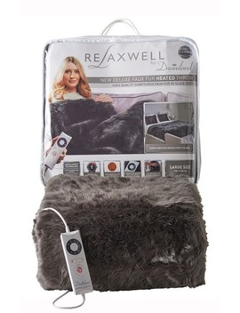 Dreamland Relaxwell Faux Fur Heated Throw by Next