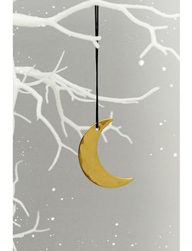 Metal Crescent Moon Christmas Ornament by Urban Outfitters
