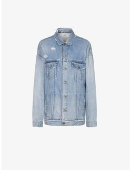 Giacca Oversize In Denim Givenchy Atelier by Givenchy