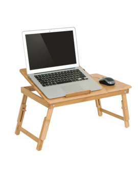 Actionclub Nature Bamboo Laptop Table Simple Computer Desk With Fan For Bed Sofa Folding Adjustable Laptop Desk On The Bed by Ali Express.Com
