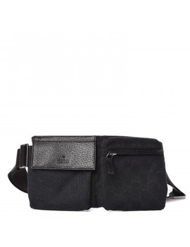 Gucci Monogram Small Belt Bag Black by Gucci