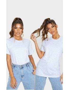 Grey 2 Pack Oversized Ultimate T Shirt by Prettylittlething