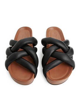 Woven Leather Slide by Arket