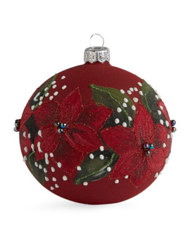 Bead Embellished Floral Bauble by Harrods