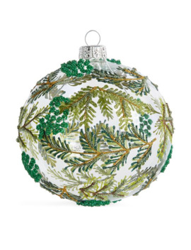 Beaded Leaves Bauble by Harrods