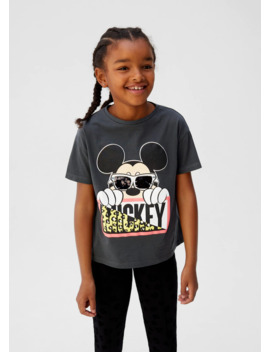 Reversible Sequins Mickey T Shirt by Mango