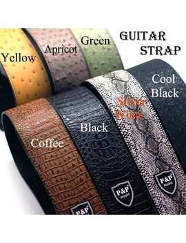 Widen Electric Guitar Strap Soft Pu Leather Belt For Acoustic Folk Guitar Bass Musical Instruments by Wish