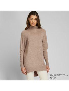 Women 3 D Knit Seamless Cashmere Turtleneck Tunic  (1) by Uniqlo