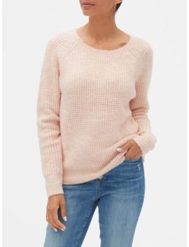 Waffle Stitch Crewneck Sweater by Gap