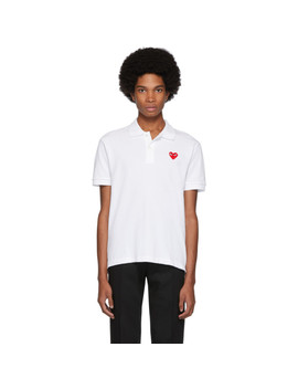 Polo Blanc Heart Patch by Comme Des GarÇons Play