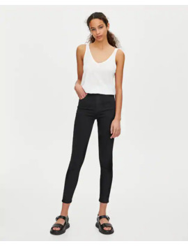 High Rise Super Skinny Jeans by Pull & Bear