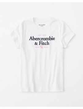 Short Sleeve Logo Tee by Abercrombie & Fitch