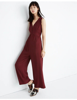 Ruffle Neck Button Front Jumpsuit by Madewell