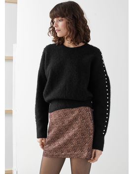 Metallic Rose Jacquard Mini Skirt by & Other Stories