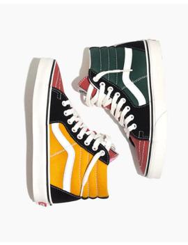Vans® Unisex Sk8 Hi High Top Sneakers In Varsity Colorblock Canvas by Madewell