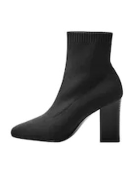 Almond   High Heeled Ankle Boots by Mango
