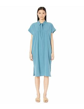 Classic Collar Short Sleeve Calf Length Dress by Eileen Fisher