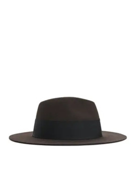 Felted Wool Fedora Hat by Arket